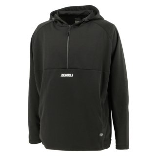 <img class='new_mark_img1' src='https://img.shop-pro.jp/img/new/icons8.gif' style='border:none;display:inline;margin:0px;padding:0px;width:auto;' />HALF ZIP SWEAT PARKA - BLK