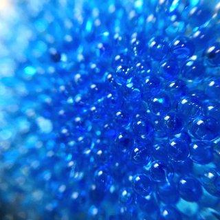 ブルー・ラグーン まんまる極小粒2mm 10g レジン封入ガラス材