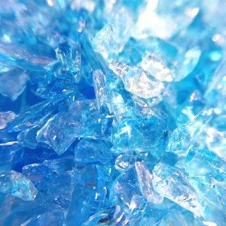 アクアマリンブルー ガラスカレット極小粒2mm-4mm 20g レジン封入ガラス材