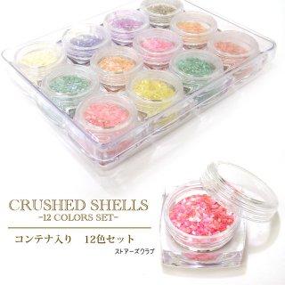 【容量大】シェルフレーク 淡水貝殻12色セット クラッシュシェル大口用 レジン封入材