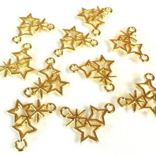 星のきらめき 6個 ゴールドチャーム