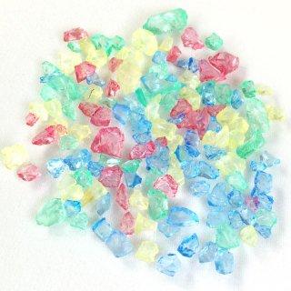 フロストシュガー【パステルカラー】氷砂糖のようなガラスカレット ケース入りレジン封入材