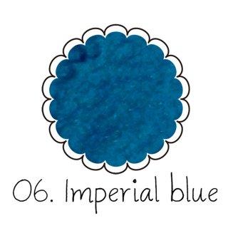 ベルベットパウダー【インペリアルブルー】ベロアのようなふわふわレジン ケース入りアートレジン封入材