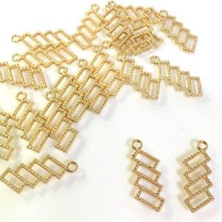 長方形レジンフレーム 20個 キャレカルテット レジン用チャーム金具