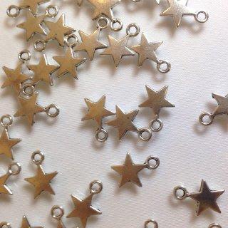 夜空に輝く一番星(30個)シルバー チャーム 8mm