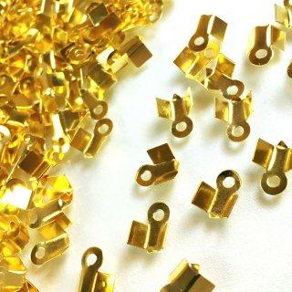 カシメ(エンドパーツ・とめ金具)30個 ゴールド9×5mm