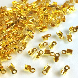 カシメ(エンドパーツ・とめ金具)30個 ゴールド6×4mm