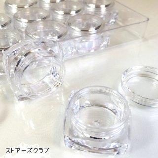 アクリルコンテナ クリアデコケース(12個)ビーズ保存用 収納資材