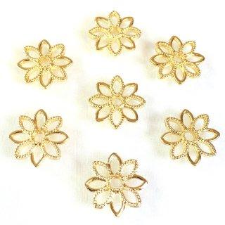 お花のメタルフレーム(4個)ゴールド透かしパーツ
