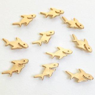 ▲サメ(10個)ゴールド動物チャーム