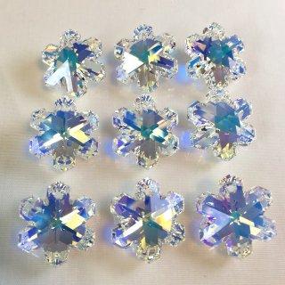スワロフスキー#6704/20 クリスタルAB 雪の結晶型