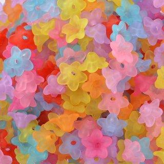 雪の花(40個)すりガラスのような小花 ミックスフラワーマット