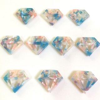 宙色べっこうパーツ(10個)宝石 樹脂製チャーム