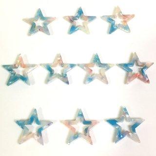 宙色べっこうパーツ(10個)星 樹脂製チャーム