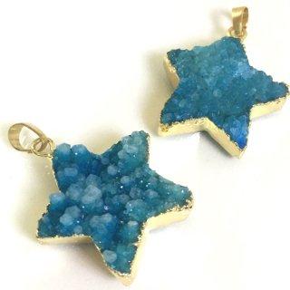 星のドゥルージー【アクアマリン】集晶 晶洞 天然石 Druzy