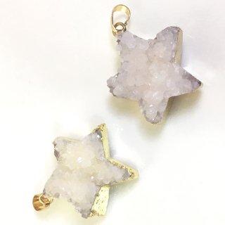 星のドゥルージー【スターライトホワイト】集晶 晶洞 天然石 Druzy
