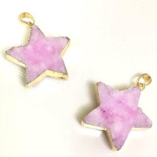 星のドゥルージー【ライトピンク】集晶 晶洞 天然石 Druzy