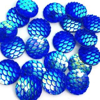 人魚の鱗 深海のマーメイド(20個)オーロラ加工 ファンタジー カボションパーツ