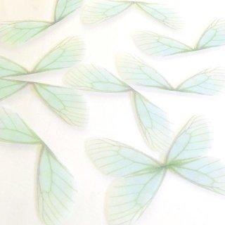 シフォン素材の蝶の羽(4個)アクアブルーカラー