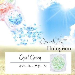 クランチホログラム【オパールグリーン】大理石の色彩が美しい レジン封入