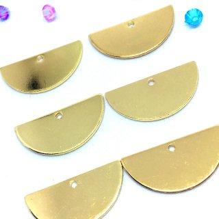 半円のプレート(6個)メタルプレートチャーム