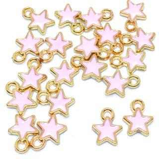 プチエトワール 星のミニチャーム(ピンク)20個 スターチャーム