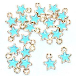 プチエトワール 星のミニチャーム(ブルー)20個 スターチャーム