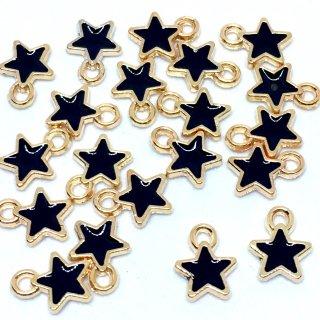 プチエトワール 星のミニチャーム(ブラック)20個 スターチャーム