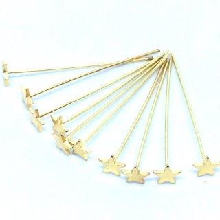 星のTピン(10個)ゴールド スターポイントピン 基礎金具