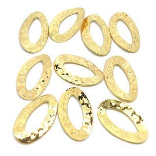 水滴リングフレーム(10個)楕円 ゴールドチャーム