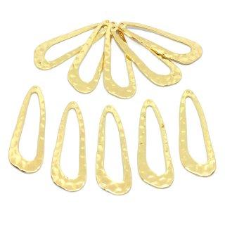 雨の雫リングフレーム(10個)変形しずく ゴールドチャーム