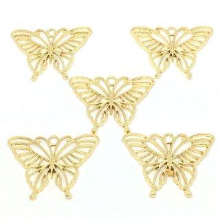 春に舞う蝶のレジンフレーム 透かし(5個)空枠チャーム カン付セッティング