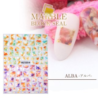 天然石風(アルバ)【レジンシール】マーブルフィルムネイルシール