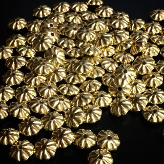 メタルビーズ デイジー(100個)ゴールド ロンデル ビーズ