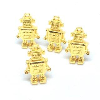 おもちゃの立体ロボット(4個)ゴールドチャーム