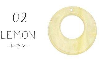 シェルサークル【レモン】爽やかなハンドメイドアクセサリーに(6個)フープ リング