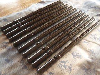 祭り笛 八本調子(オリジナル横笛 Original Flute C管 )女竹製