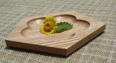 木の菓子皿 〜センの五六八角皿〜