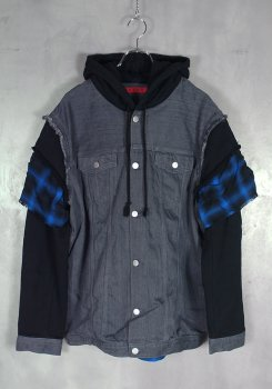 <img class='new_mark_img1' src='https://img.shop-pro.jp/img/new/icons20.gif' style='border:none;display:inline;margin:0px;padding:0px;width:auto;' />ARNY<br>HOODED DENIM JACKET<br>[新品]