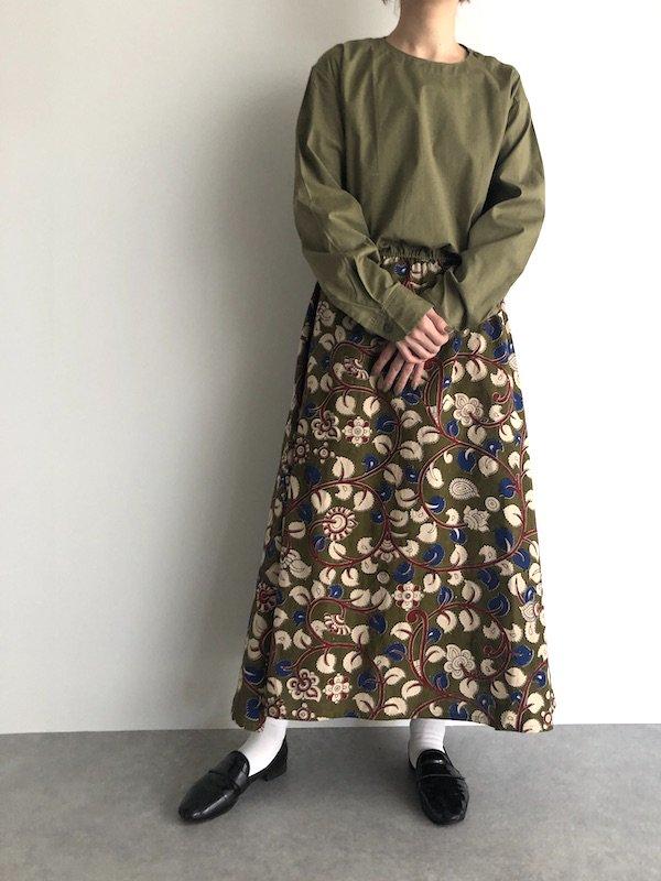【SALE】Remake Rumania shirt dress / ルーマニア軍 リメイク花柄ワンピース(browsing)