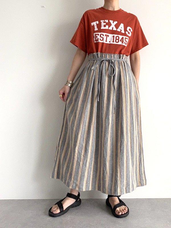 Remake Stripe loose dress  / リメイク ストライプルーズワンピース(O.brn)