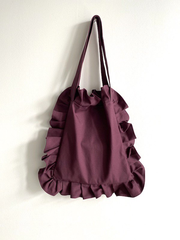 Canvas Tote Bag  Small  / 帆布 フリルバック  小サイズ (PPL-1)