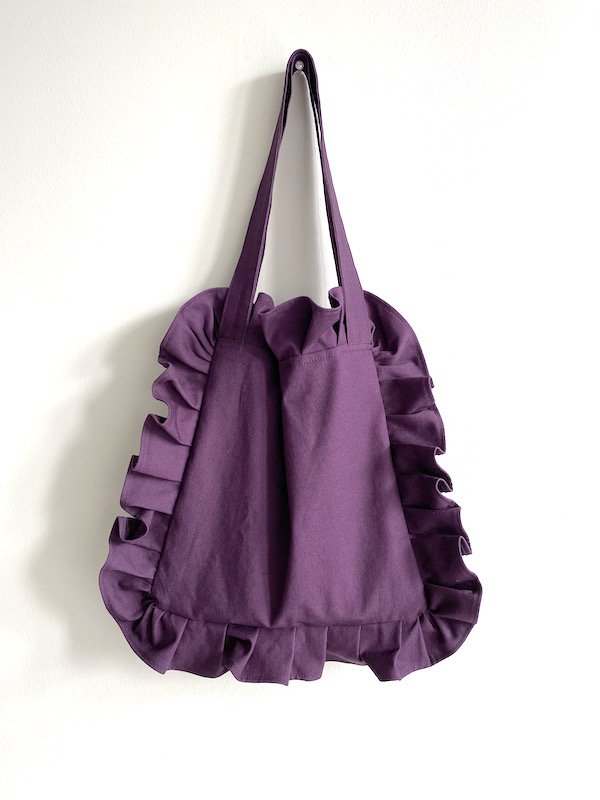 Canvas Tote Bag  Small  / 帆布 フリルバック  小サイズ (PPL-2)