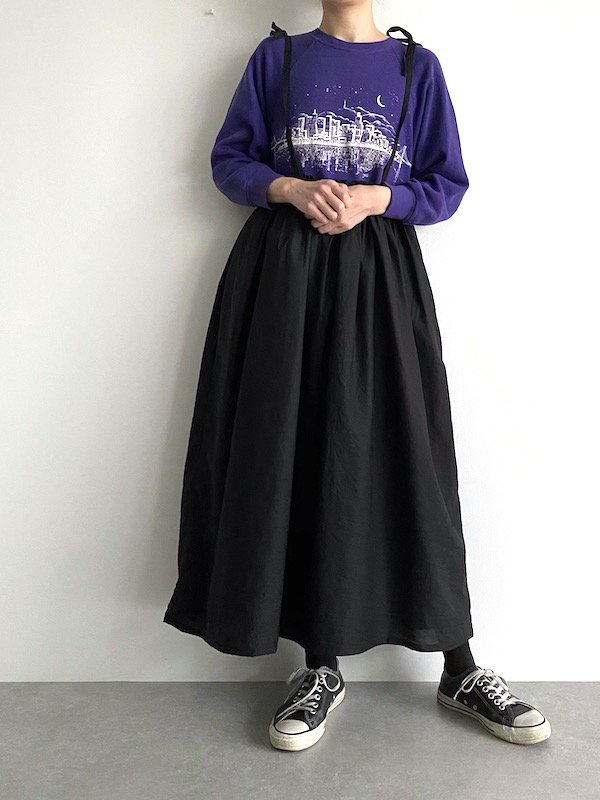 Remake cami long sweat dress  / リメイクキャミ スウェットワンピース( PPL )