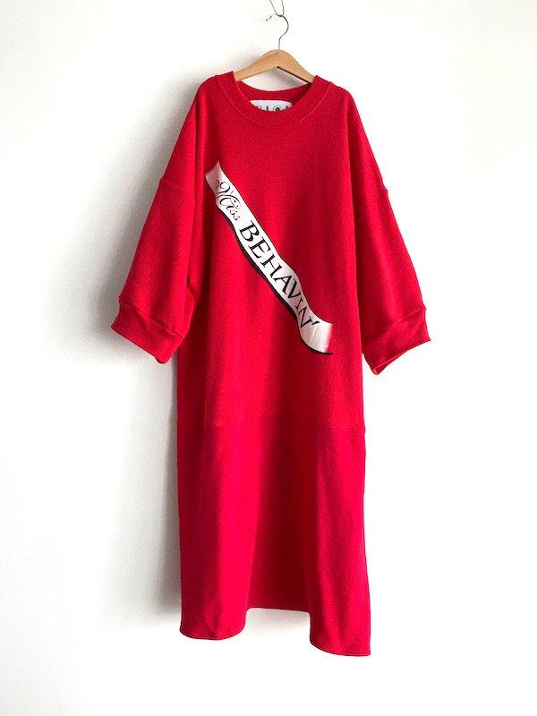 Remake  sweat dress / リメイクスウェットワンピース (Red)