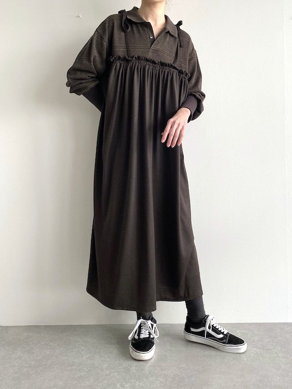 Remake  Knit  cami dress / リメイクニットキャミワンピース(BRN)