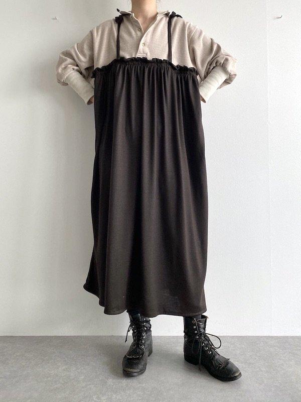 Remake  Knit  cami dress / リメイクニットキャミワンピース(BE×BRN)