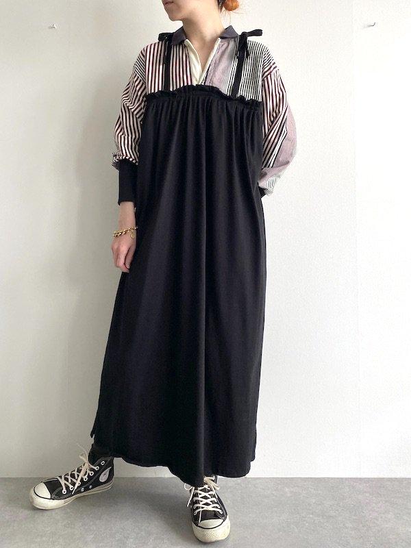 Remake  Shirt  cami dress / リメイクシャツキャミワンピース(STRIPE)