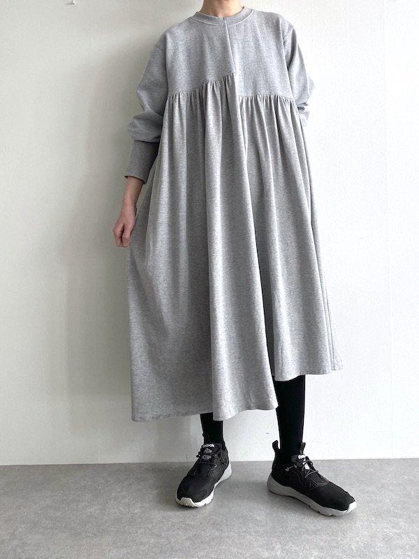 KICI -  Asymmetry sweat dress / アシンメトリースウェットワンピース (GY )