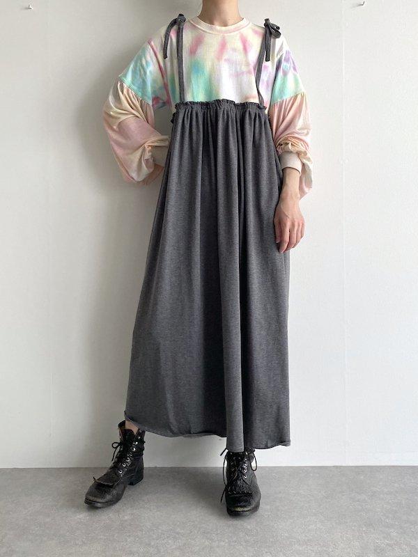 Remake  T-shirt  cami tie-dye dress   /  リメイク タイダイ キャミワンピース (GY)